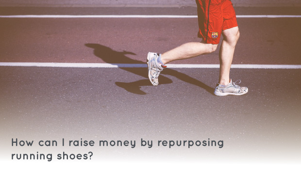 You can raise money for your organization by holding a running shoe drive fundraiser and repurposing running shoes.