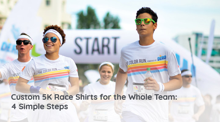 Custom shirts at your 5K fundraiser idea will create an atmosphere of unity and raise more money.