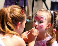Consider a kid's face painting event as one of your next walkathon fundraiser ideas.