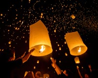 Consider a lantern release as one of your next walkathon fundraiser ideas.
