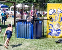 Set up a dunk tank and have people donate their unwanted shoes in exchange for throws!