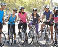 Charge a pair of athletic shoes as an entry for your community relay bike ride.
