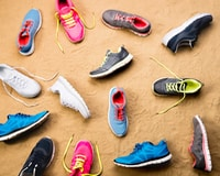 A running shoe drive fundraiser is a great way to recycle sneakers and can be coordinated with almost any event.