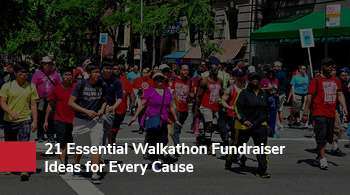Add walkathons to your list of best fundraising ideas for sports teams.